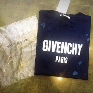 NEW! 'GIVENCHY' DARK BLUE SHORT SLEEVE MEN SHIRTS!
